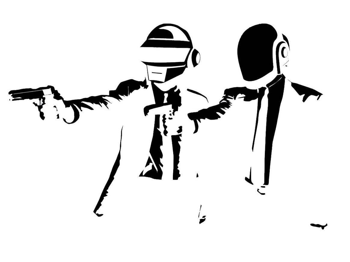 Drawing Illustration Artwork Line Art Cartoon Pulp Fiction Vector Daft Punk Sketch Font Clip