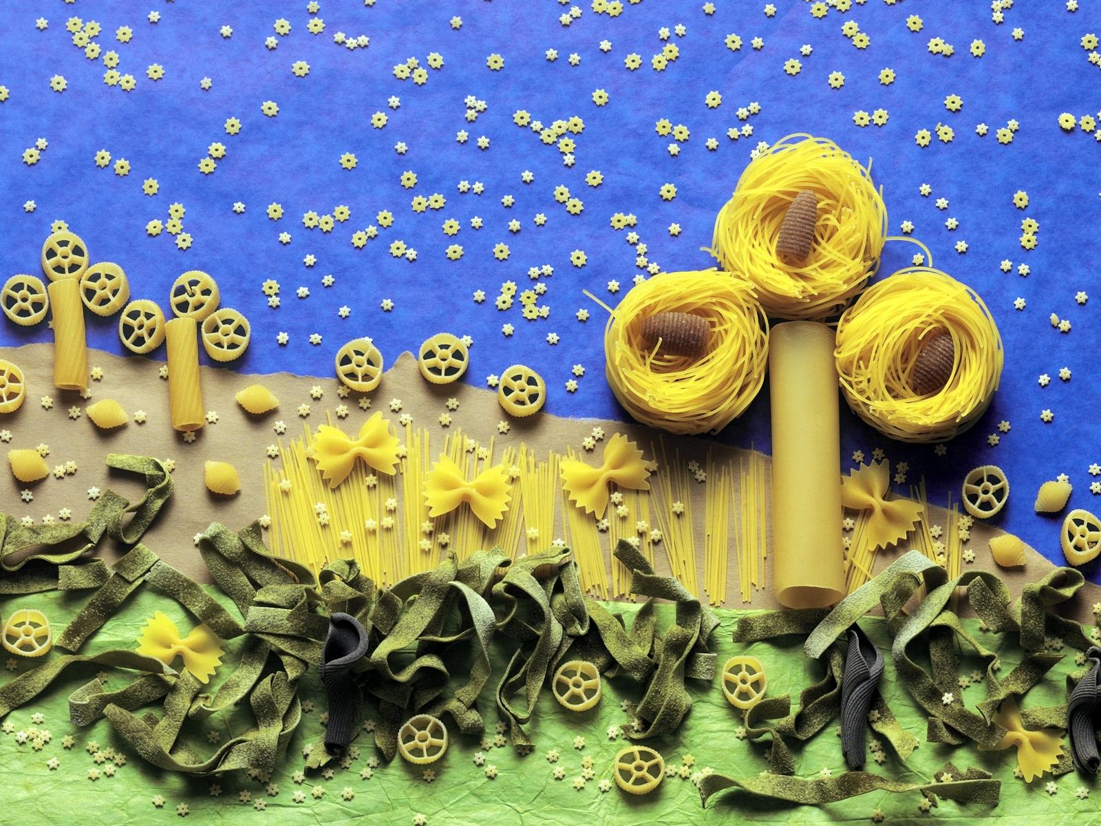 Паука прикол, открытка с макаронами своими руками