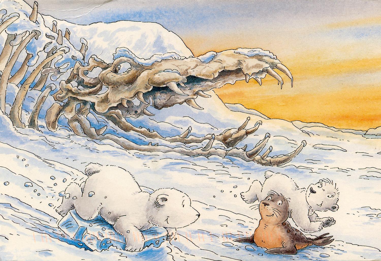 Tapety Vykres Malovani Ilustrace Voda Zima Kreslena Pohadka