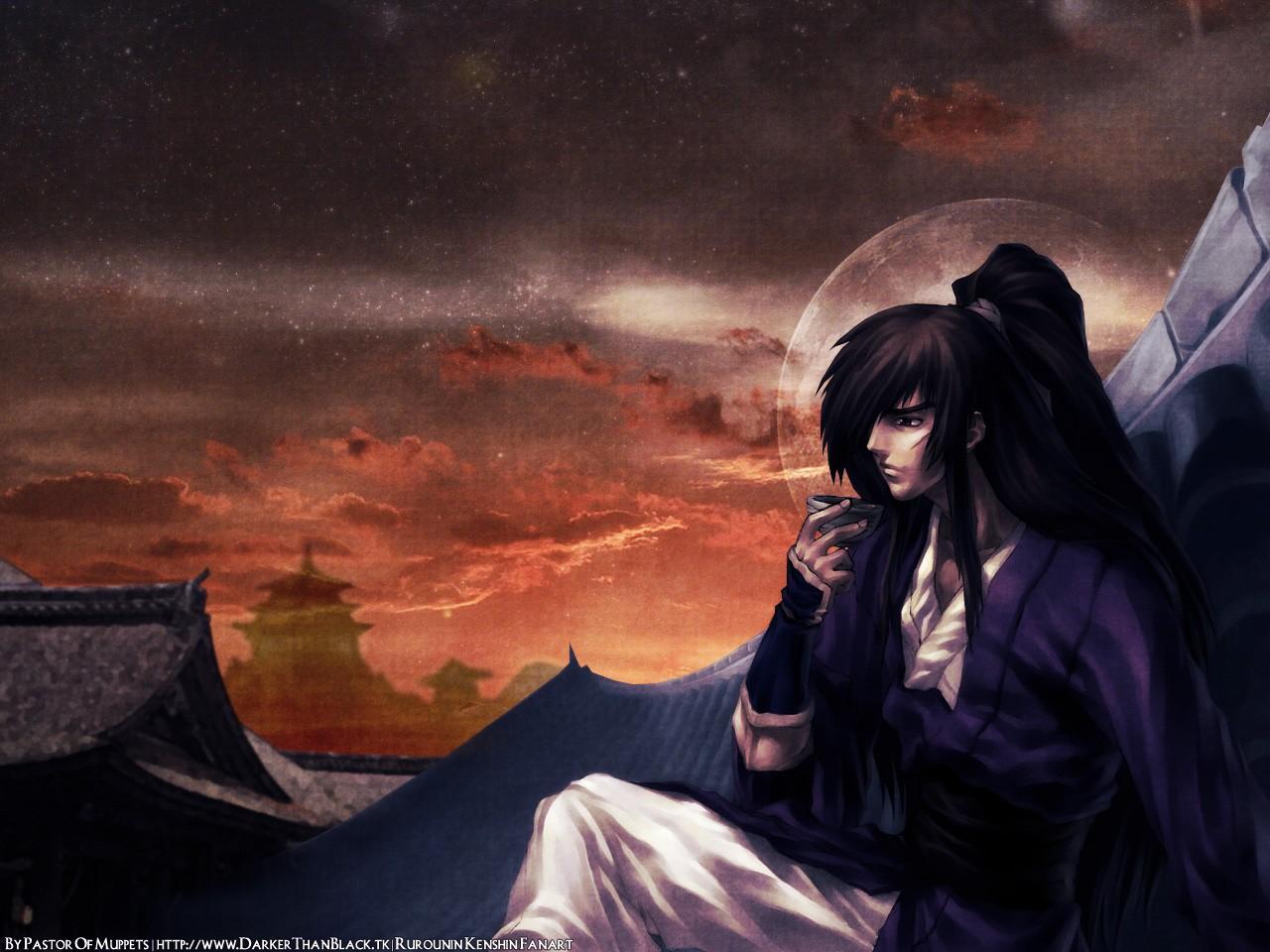 Wallpaper Anime Samurai X Midnight Darkness Screenshot
