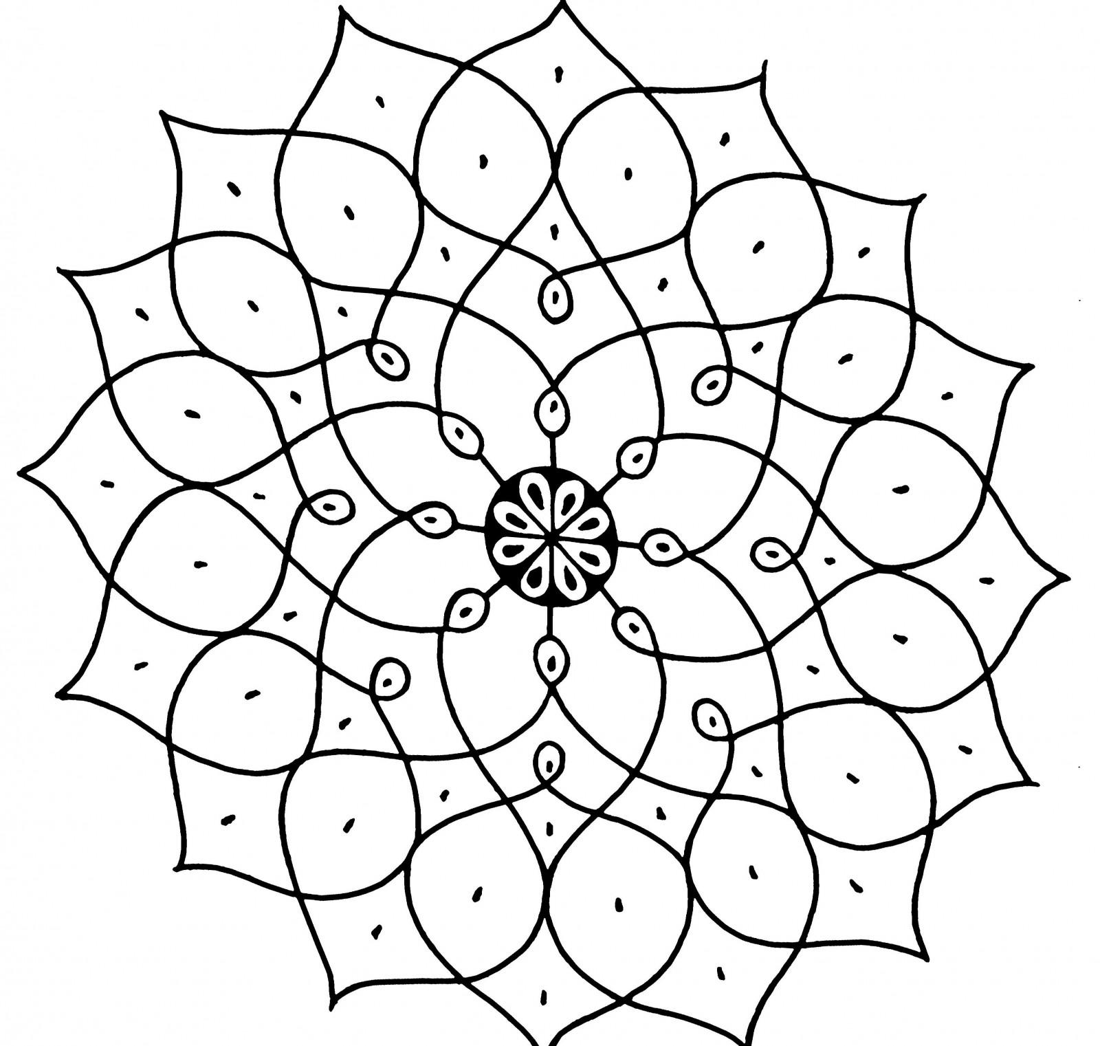 Tapety Vykres Cernobily Symetrie Kresba Tuzkou Kruh Skica Up
