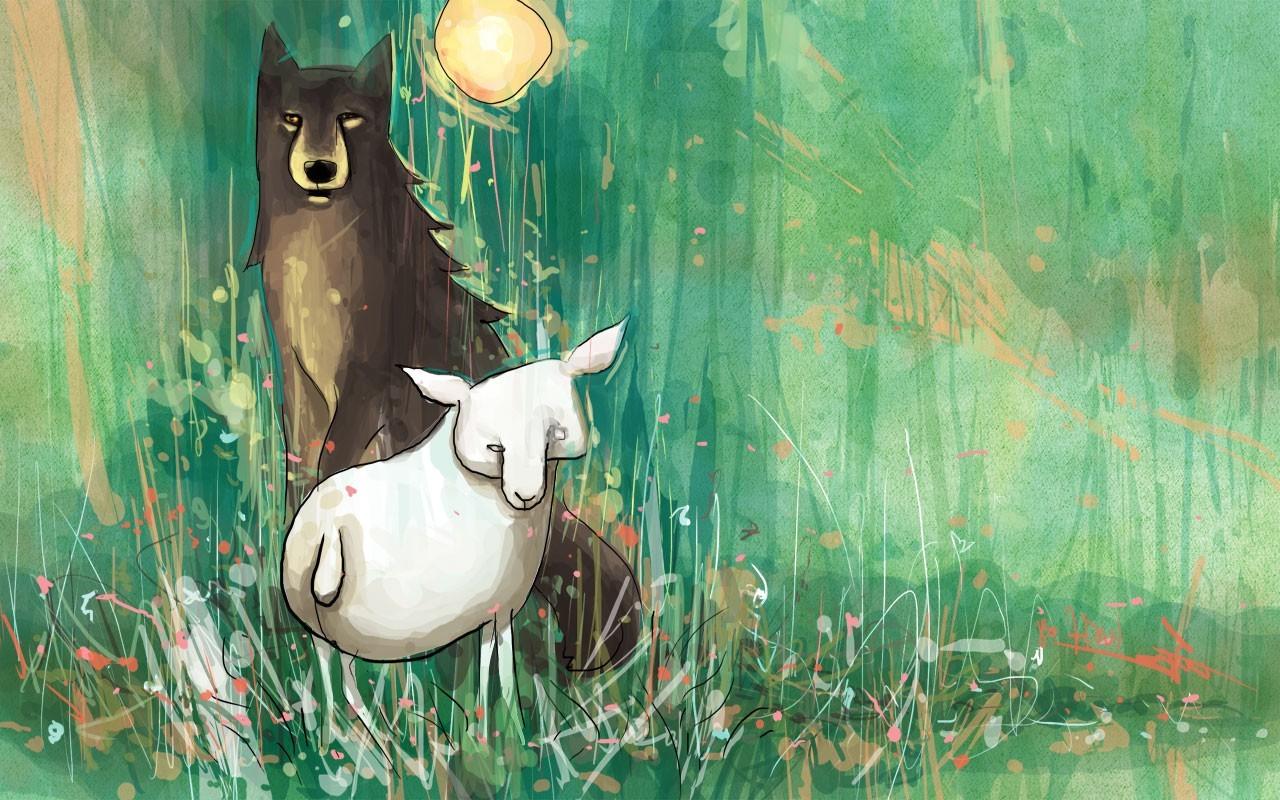Masaustu Boyama Illustrasyon Hayvanlar At Ot Bitkiler Ay