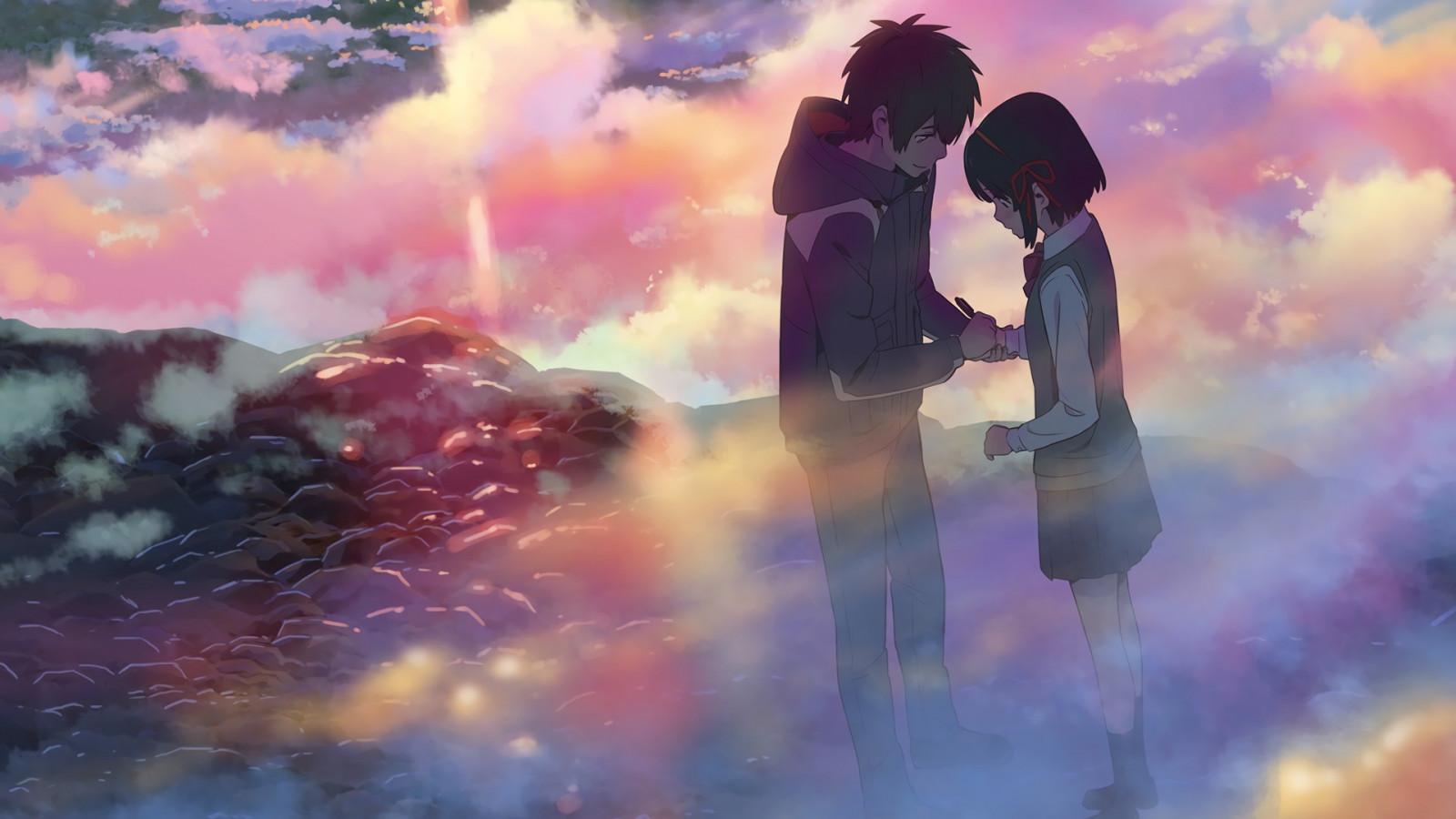 Wallpaper : sunlight, anime, sky, clouds, atmosphere, Kimi ...