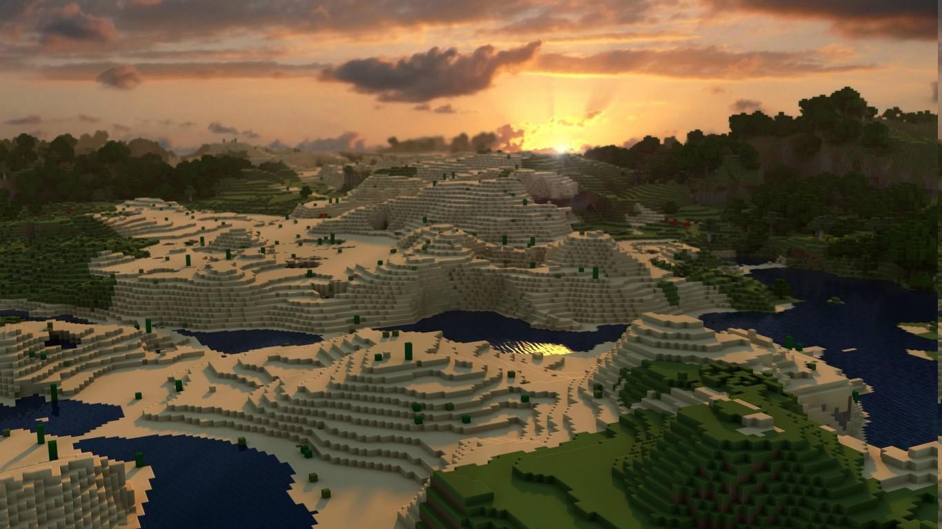 Tapety krajina videohry panor ma m sta minecraft for Immagini minecraft hd