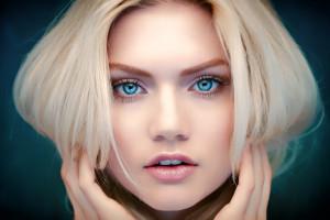 hintergrundbilder gesicht frau modell porträt blond