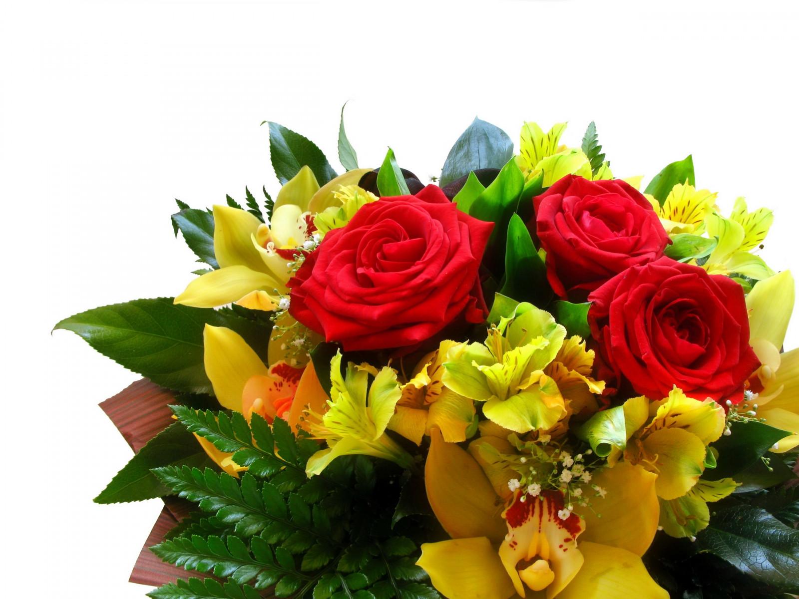 Открытка с днем букет цветов, любимому