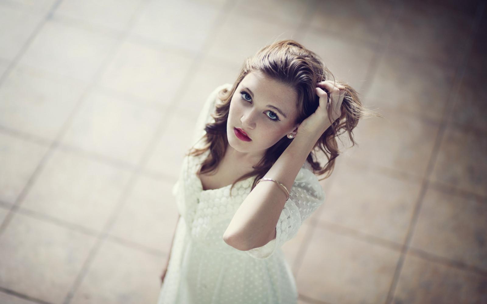 long hair #portrait #face #women #model #brunette hands on