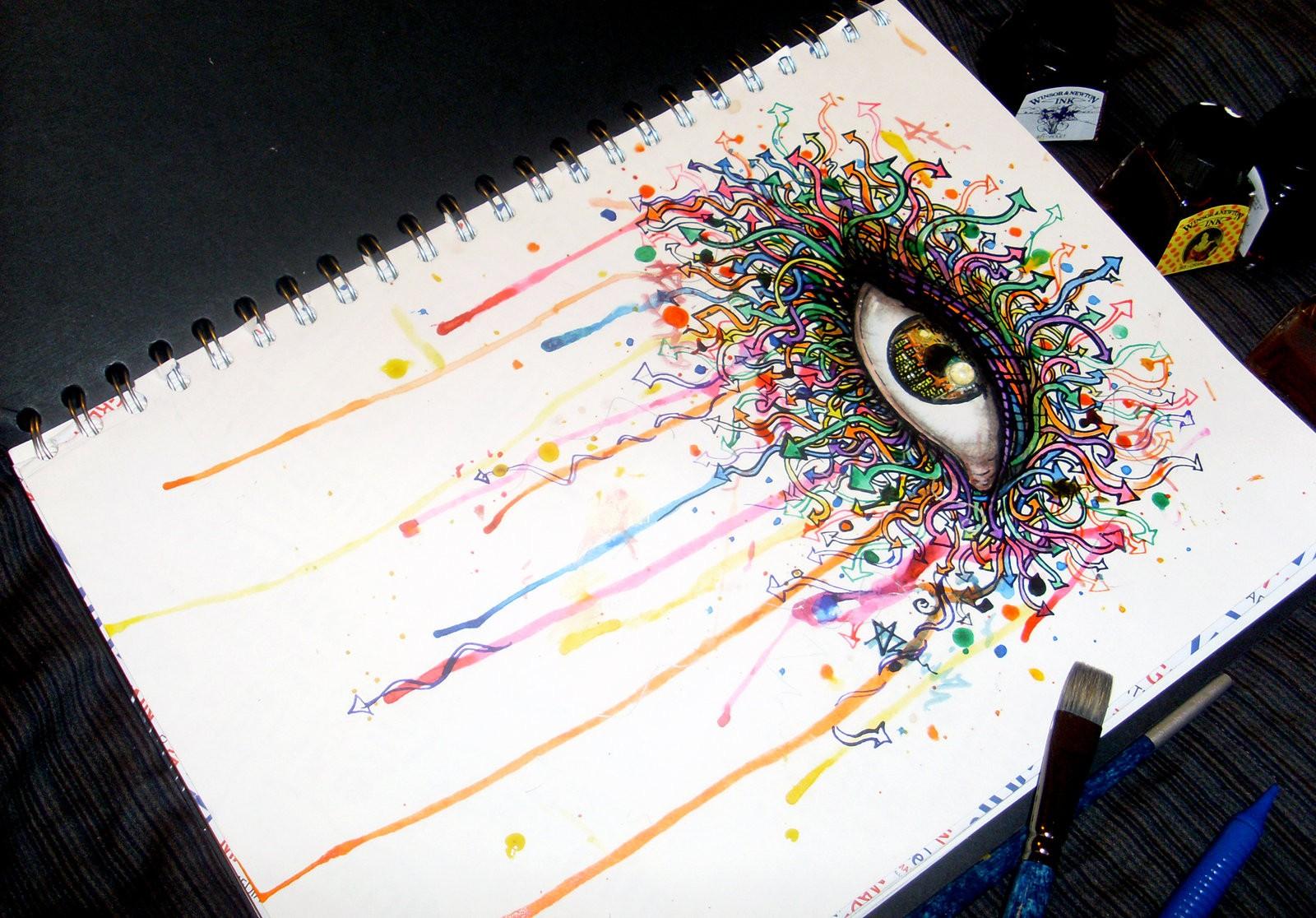 Картинки которые можно рисовать фломастерами, глаза смешные картинки