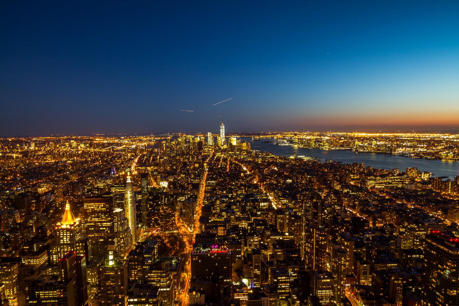 Sfondi new york stati uniti d 39 america citt di notte for New york dall alto