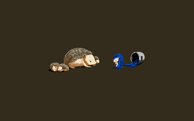 Wallpaper Threadless Humor Minimalism Sonic The Hedgehog Hedgehog Painting Brown Background Simple Background 1440x900 Sayaa97 1367009 Hd Wallpapers Wallhere