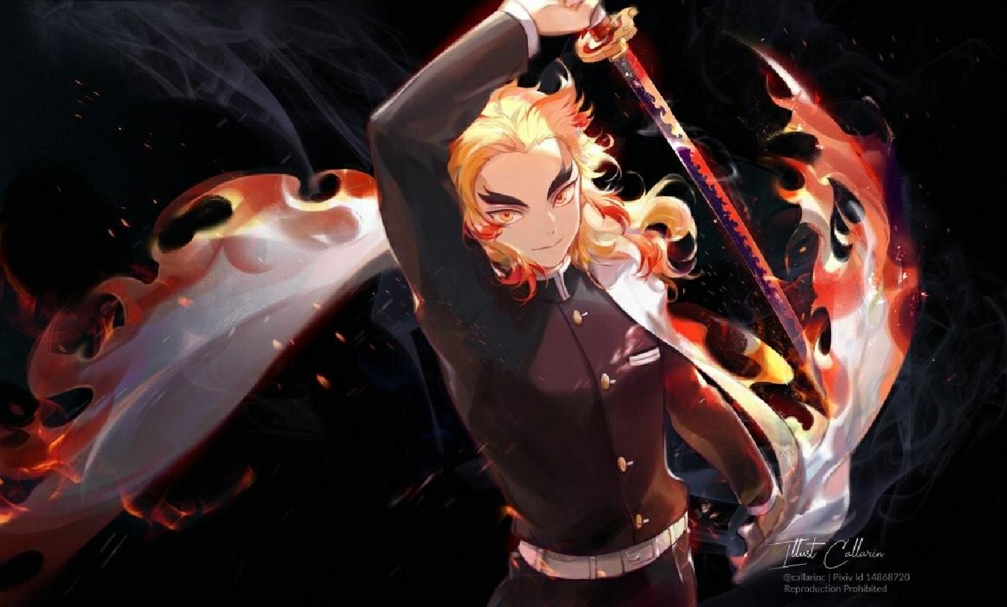 Wallpaper : Renjoku, Demon Slayer 1425x860 - qunzhong ...