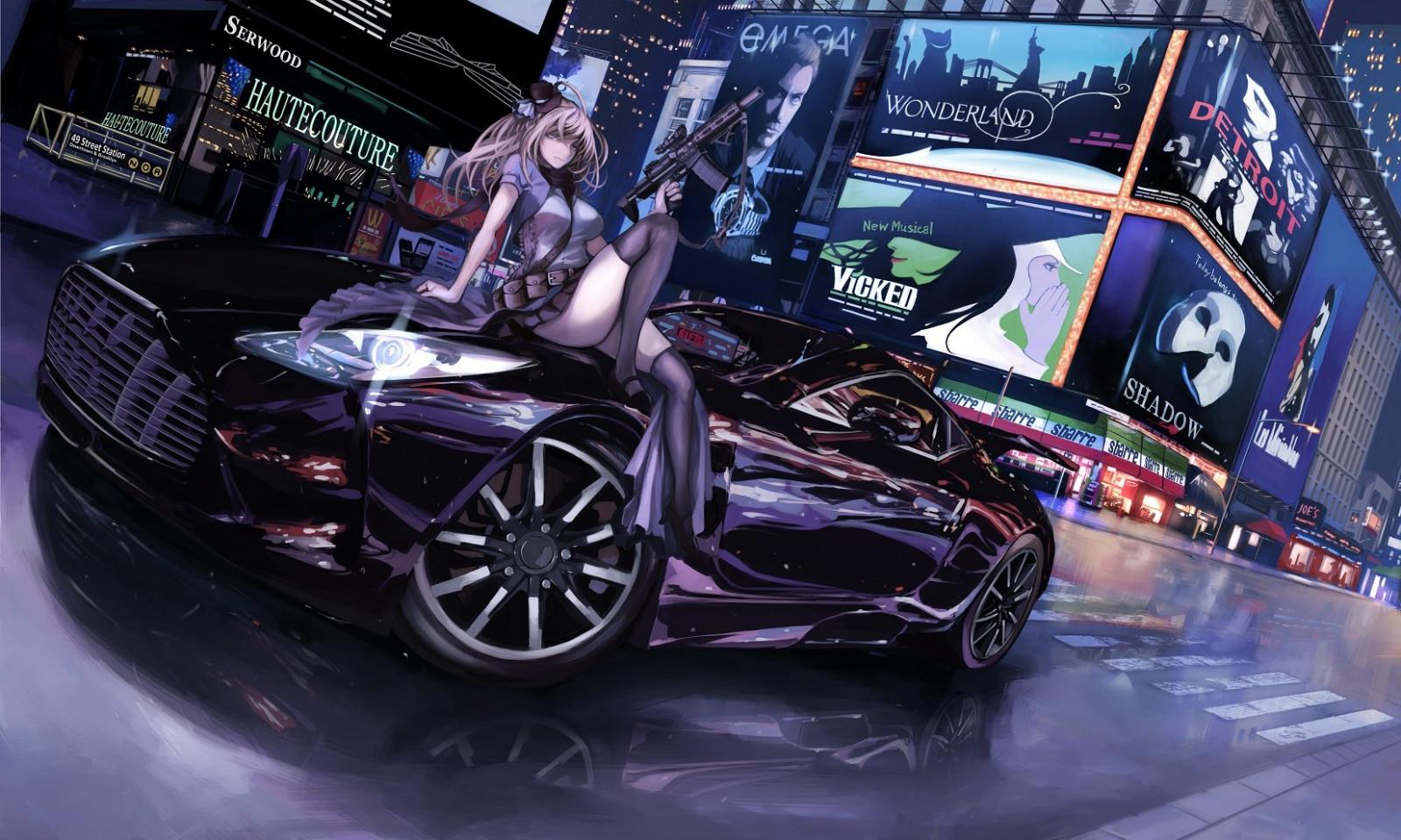 Hintergrundbilder Gewehr Lange Haare Anime Mädchen Auto Fahrzeug Waffe New York City Sportwagen Alice Im Wunderland Aston Martin Ausstellung Supercar Landfahrzeug Automobil Design Automobil Machen Luxusfahrzeug Autoshow 1654x993