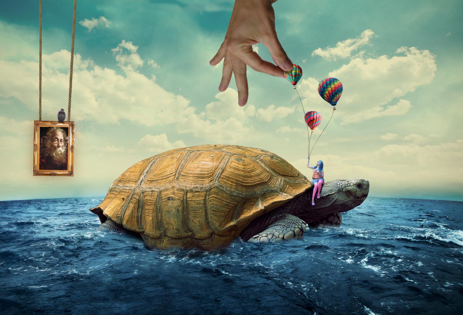 Wallpaper  Digital Art, Artwork, Surreal, Animals, Sea