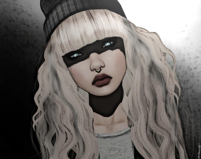 Wallpaper : drawing, white, black, illustration, portrait, blonde