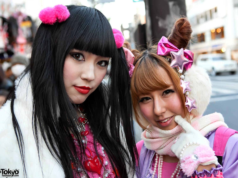 strada rosa ragazze carina ragazza moda Giappone capelli giapponese Tokyo  viola stile harajuku kawaii moda di