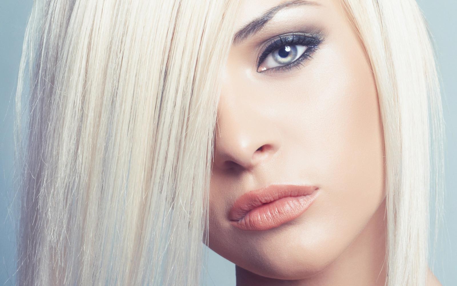 Wallpaper Face Model Blonde Long Hair Blue Eyes: Wallpaper : Face, Women, Model, Portrait, Long Hair, Blue