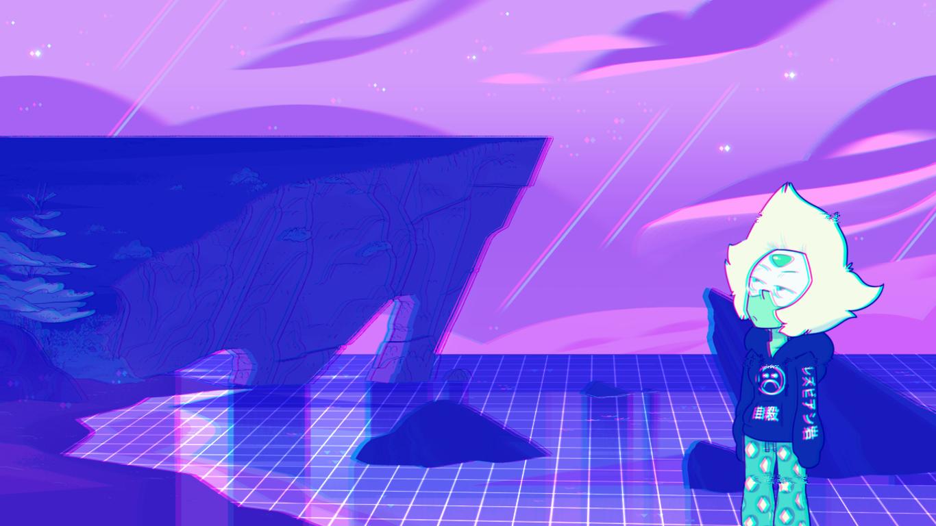 Wallpaper Illustration Vaporwave Steven Universe