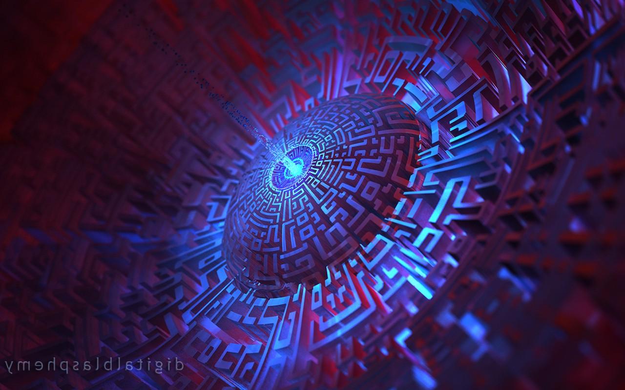 Abstract Space Purple Symmetry Circle Digital Blasphemy Mazes Light 1280x800 Px Computer Wallpaper Fractal Art Special