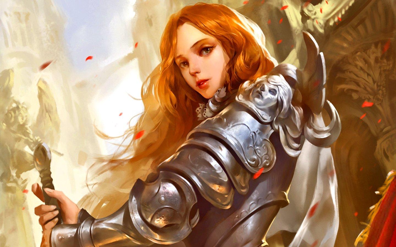 Девушка и рыцарь картинки