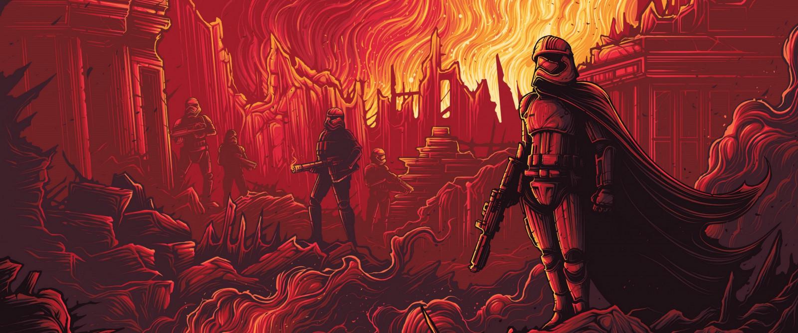 Wallpaper Illustration Star Wars Red Demon