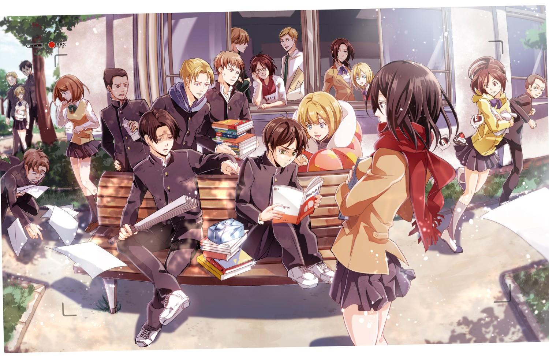 Wallpaper Illustration Anime Cartoon Shingeki No Kyojin