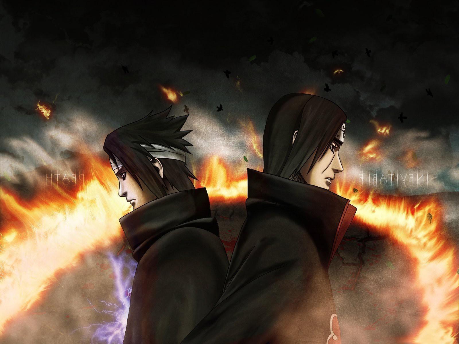 1600x1200 px Brothers fire Naruto Shippuuden Uchiha Itachi Uchiha Sasuke 579142