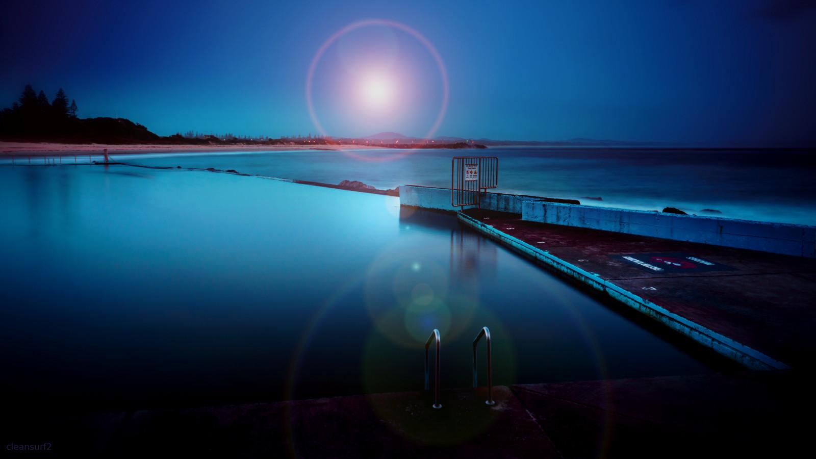 Sfondi oceano longexposure blu leggero mare sfondo for Piscina fondo nero