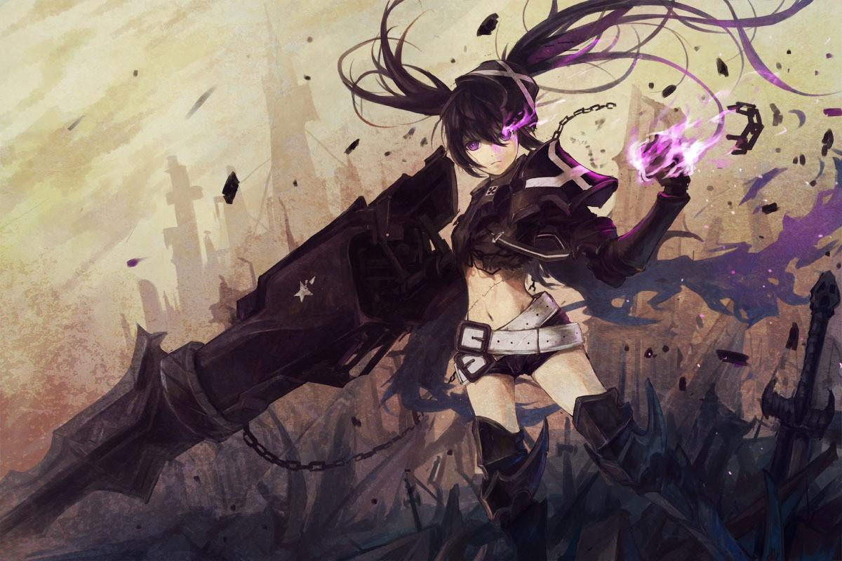 Wallpaper Anime Girls Black Rock Shooter Insane Black Rock