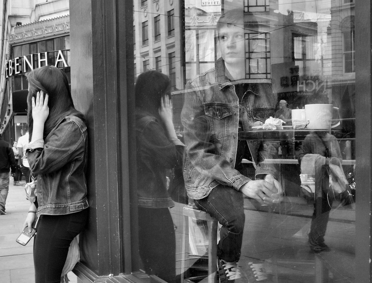 デスクトップ壁紙 女性 通り 道路 デニム インフラ 黒と白