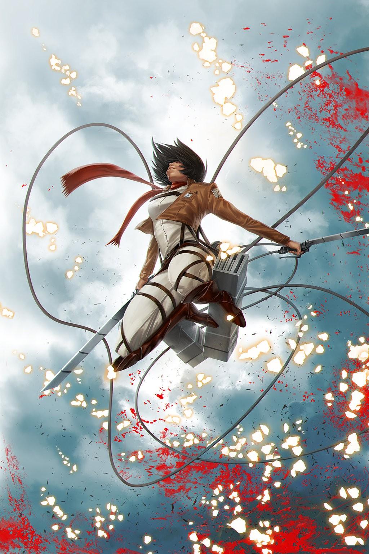 Wallpaper Illustration Anime Girls Shingeki No Kyojin
