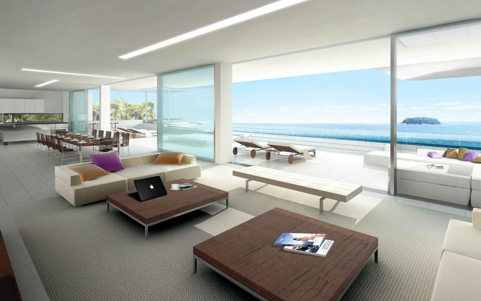 배경 화면 : 방, 내부, 현대, 요트, 인테리어 디자인, 재산, 바닥 ...