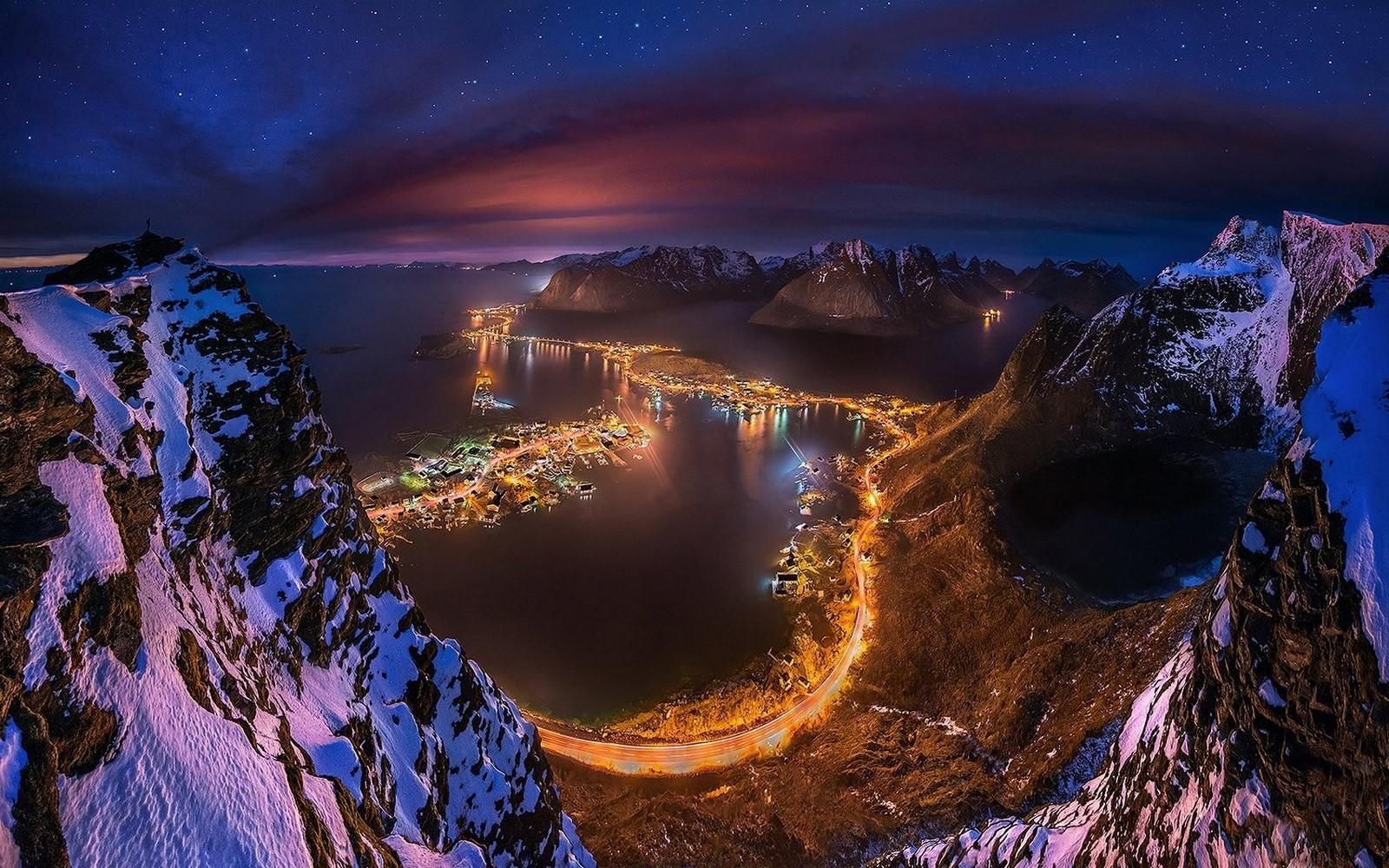 Hintergrundbilder : Landschaft, Beleuchtung, Meer, Stadtbild, Bucht ...