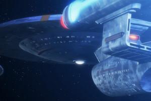 planet space vehicle dual monitors multiple display Star Trek universe USS Enterprise spaceship biology screenshot computer