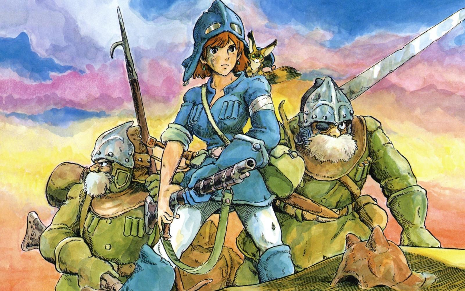 Wallpaper : painting, illustration, anime, Studio Ghibli ... |Nausicaa Studio Ghibli Wallpaper