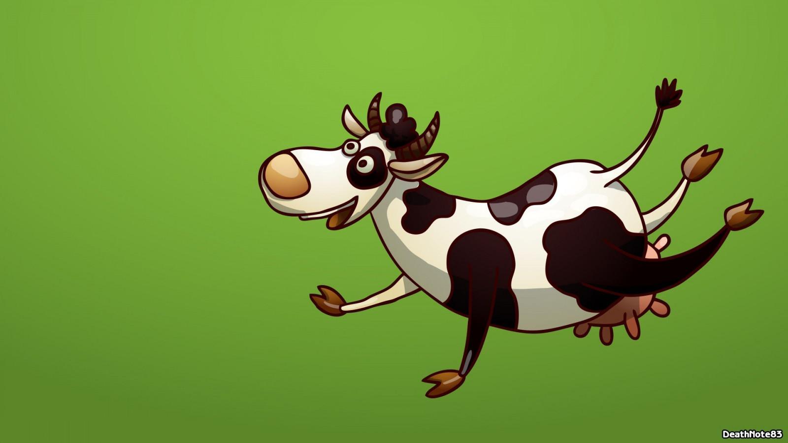 Прикольные картинки, смешные рисунки коровы