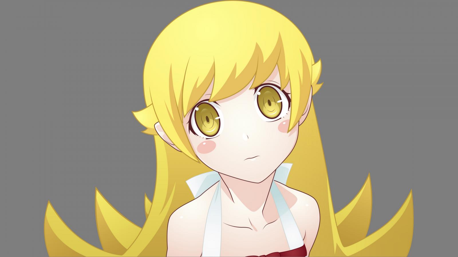 Wallpaper : illustration, blonde, long hair, Monogatari