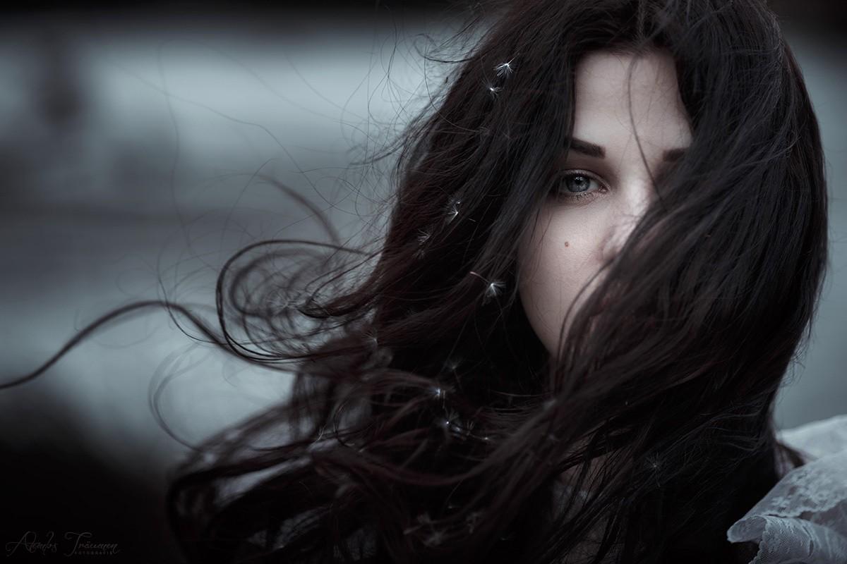 Sfondi : viso, donne, monocromo, capelli lunghi, brunetta ...