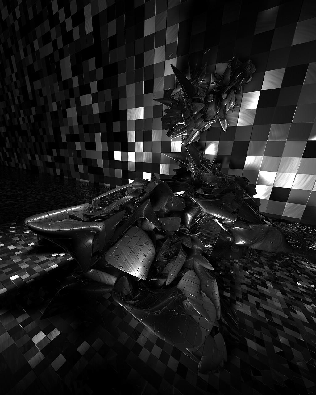 white black digital art monochrome night abstract photography symmetry light lighting shape design darkness screenshot computer