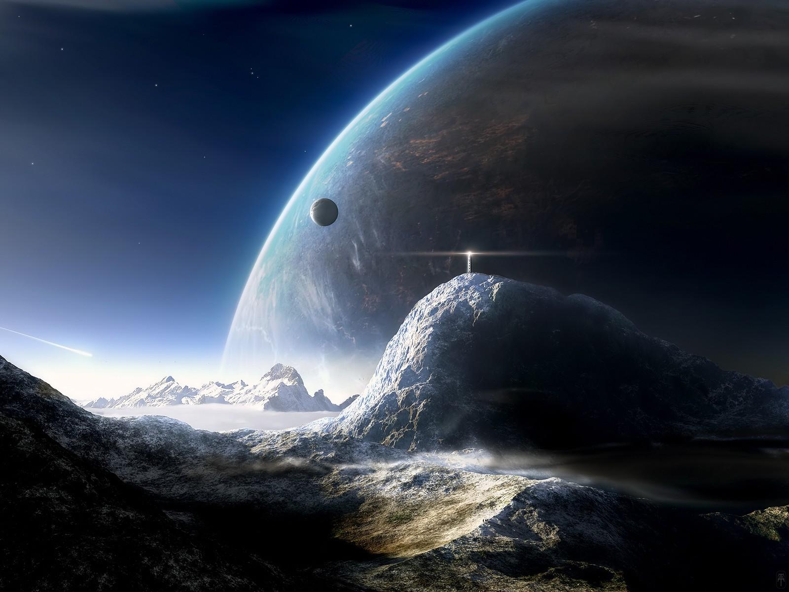 Wallpaper Planit Ruang Bumi Sinar Bulan Suasana Atmosfer Bumi Luar Angkasa Obyek Astronomi 1600x1200 Rostock 193592 Hd Wallpapers Wallhere