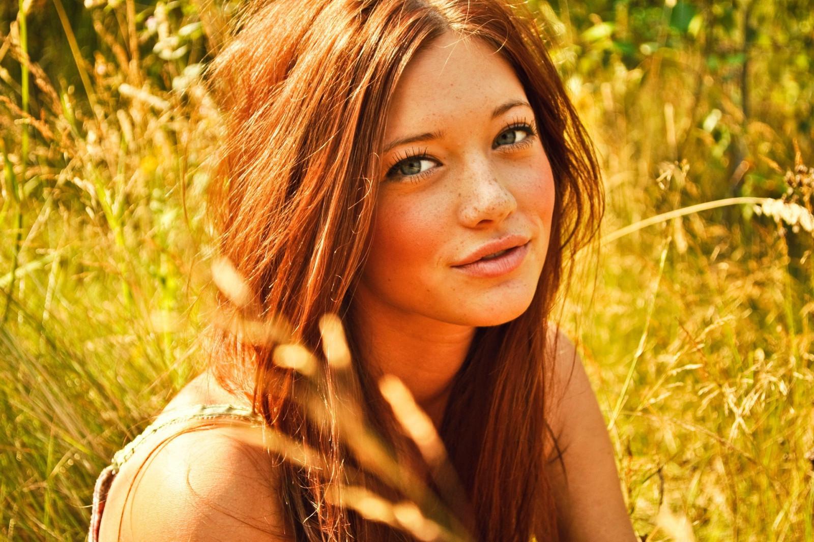 Wallpaper Face Women Model Long Hair Blue Eyes: Wallpaper : Face, Sunlight, Forest, Women Outdoors