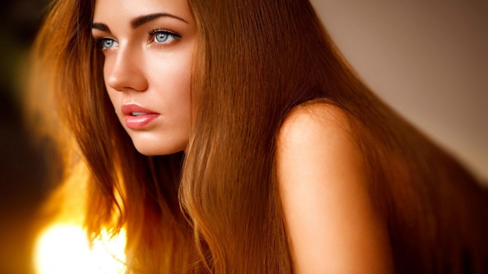 Wallpaper Face Women Model Long Hair Blue Eyes: Wallpaper : Face, Lights, Women, Redhead, Model, Looking