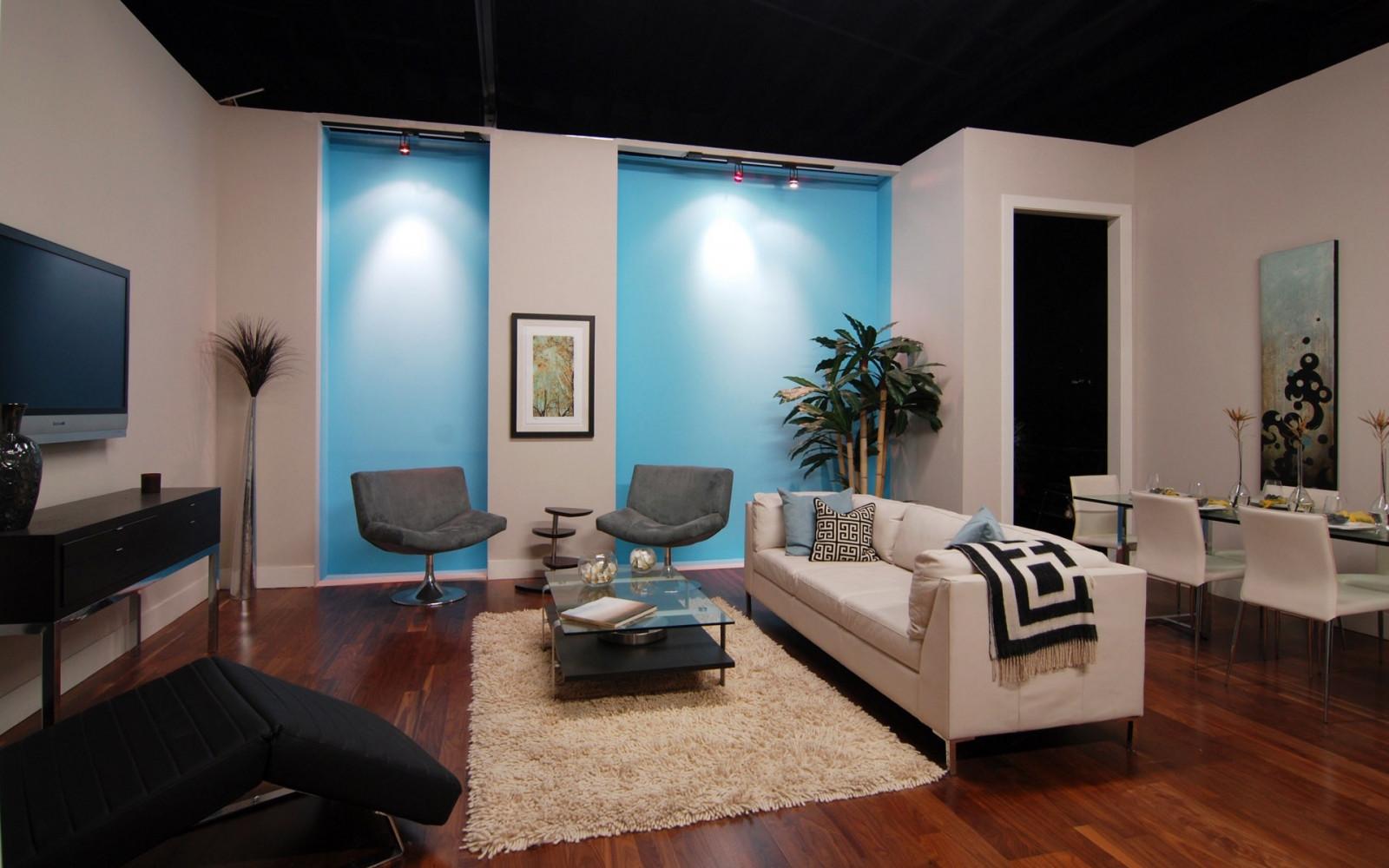 Wallpaper : TV, shelves, interior design, carpet, sofa ...