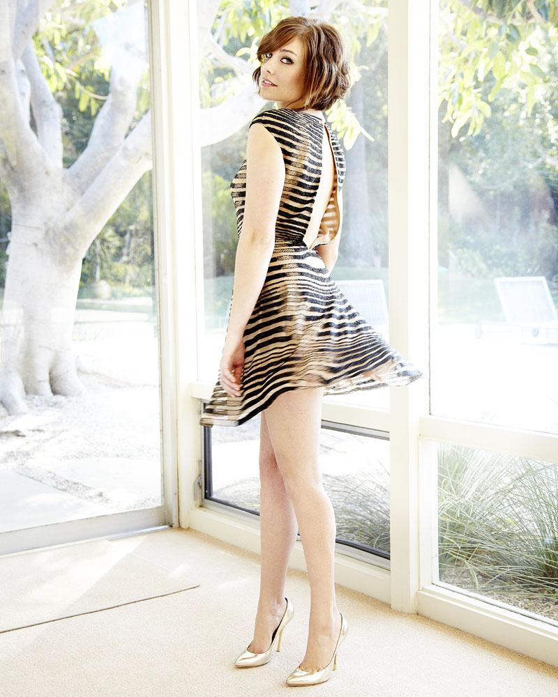 Hintergrundbilder : Frau, Kleid, Muster, Lauren Cohan, Mode ...