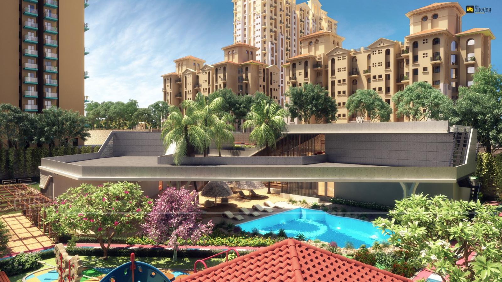 Fondos de pantalla jard n 3d piscina recurso palacio patio interior inmuebles plaza - Ley propiedad horizontal patio interior ...