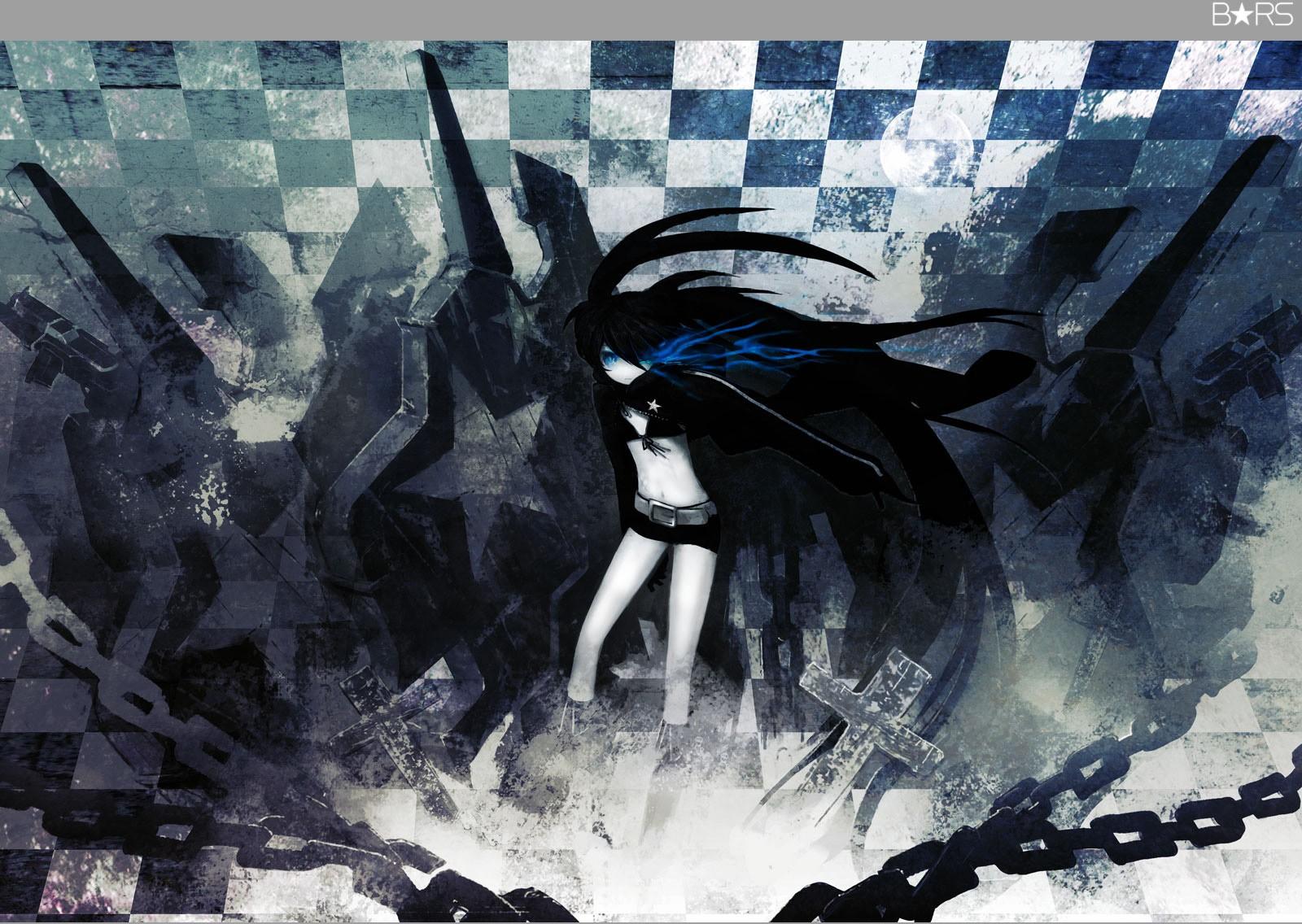 デスクトップ壁紙 お絵かき 図 アニメの女の子 ブラックロック