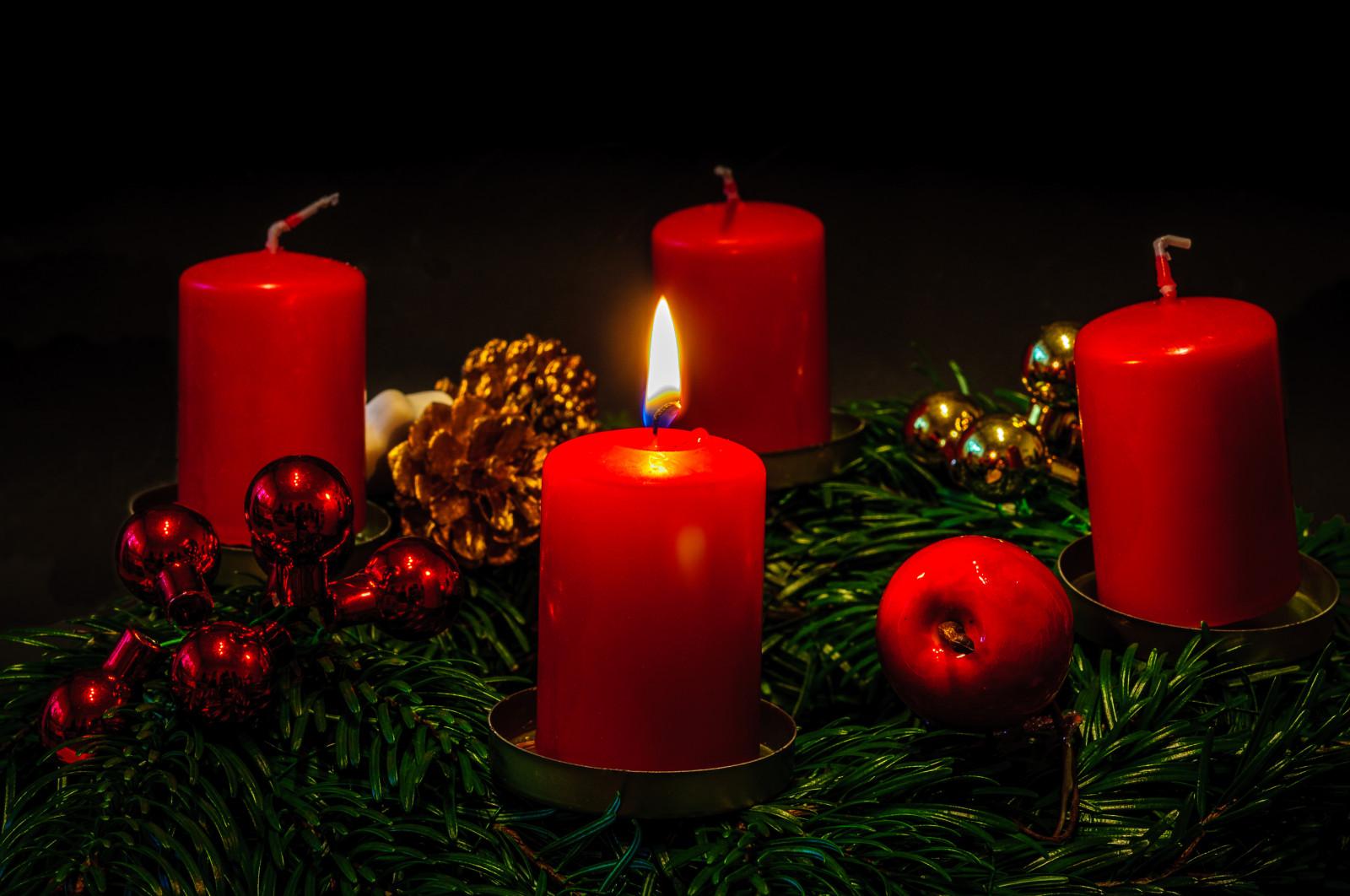 Adventskranz 1 Kerze