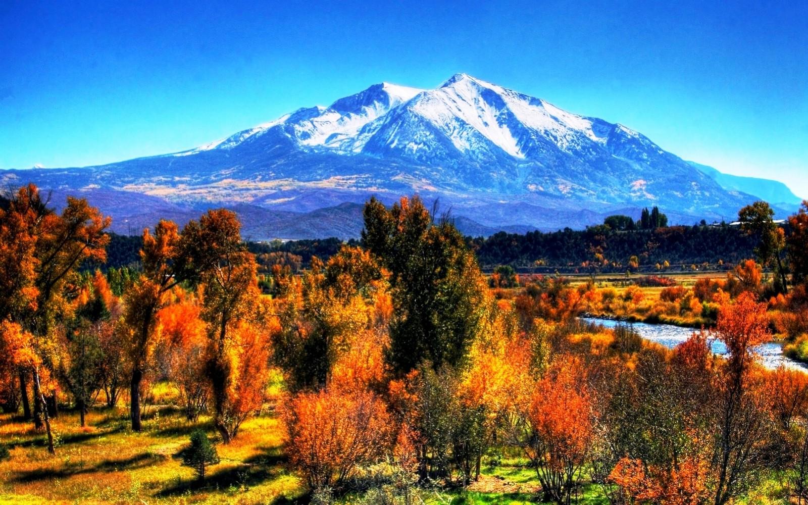 Fondo Escritorio Picos Montañas Nevadas: Fondos De Pantalla : Árboles, Paisaje, Otoño, Montañas