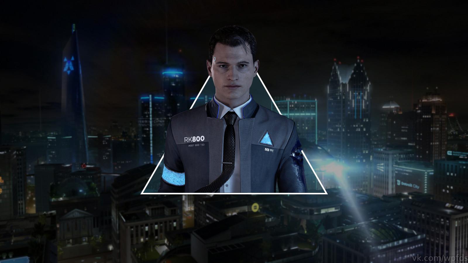 Detroit Become Human Hd Wallpaper: Wallpaper : Detroit Become Human, Connor, Video Games