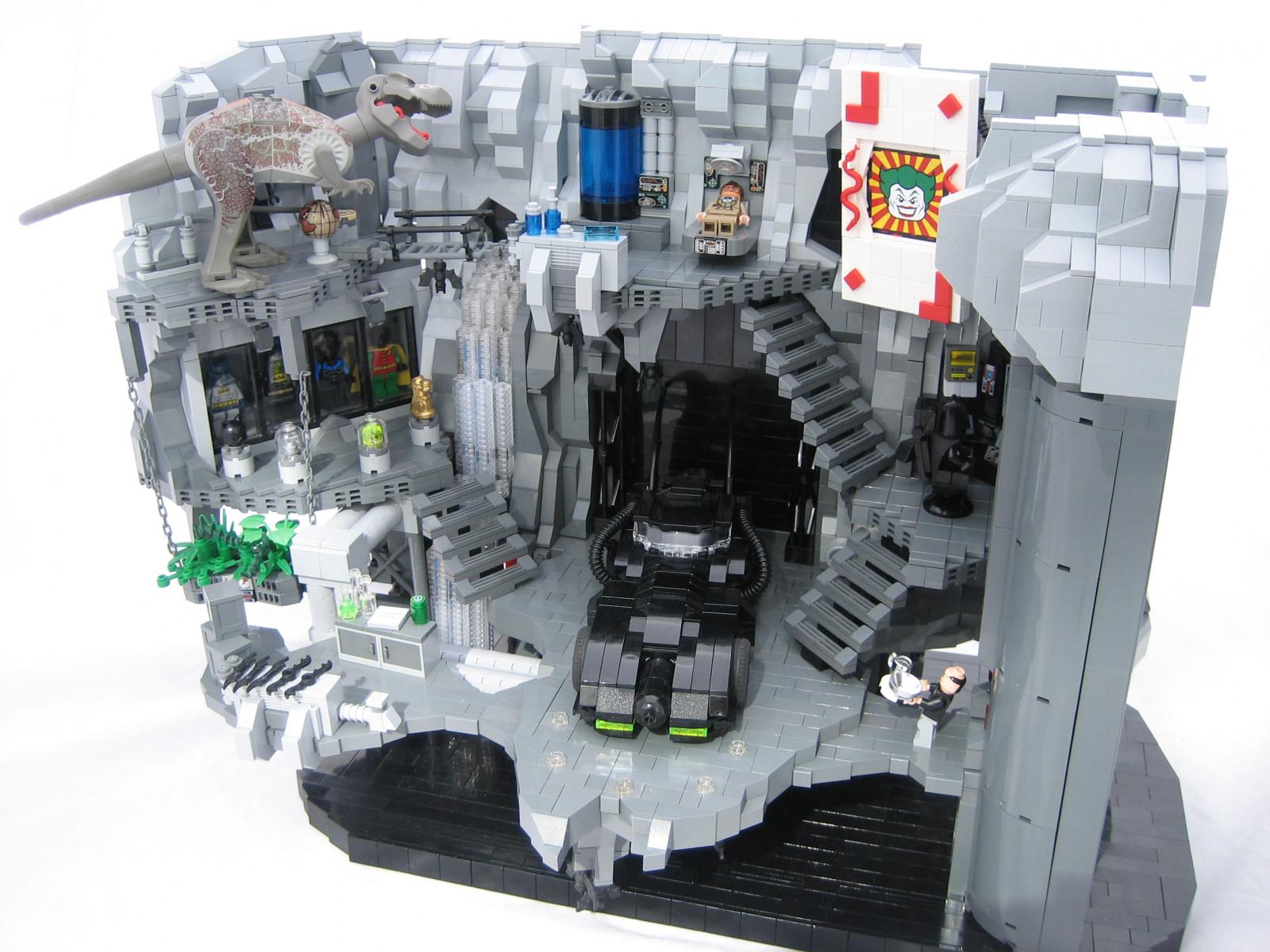 Как сделать из лего пещеру