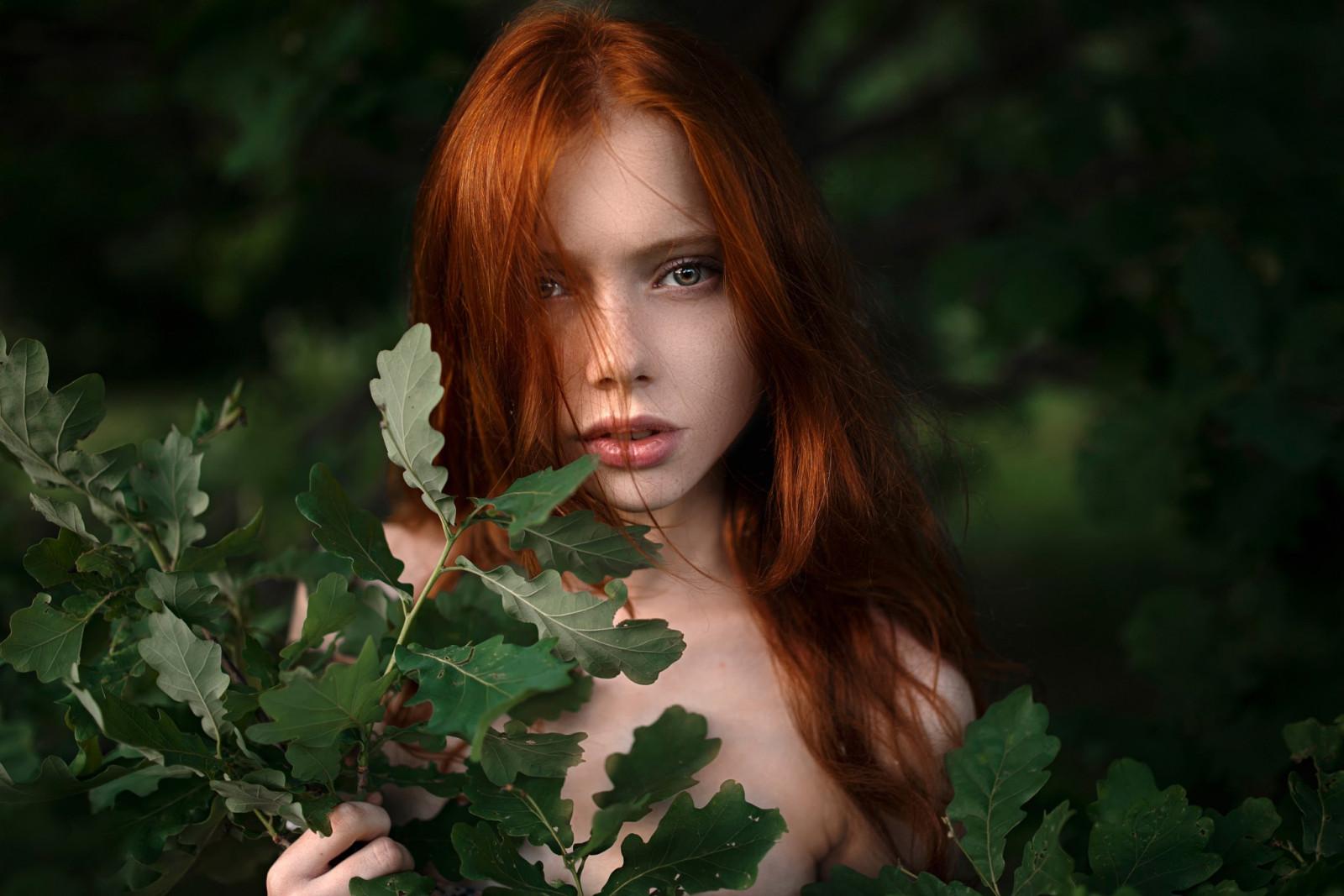 Wallpaper : face, sunlight, forest, women, model, nature